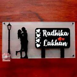 My Photo Print Personalized Acrylic Couple Home Name Plate Corporate Gifts/ Promotional Gifts