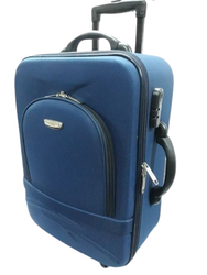 Blue Polyester Rolling Trolley Suitcase, Size: 18x24 Inch