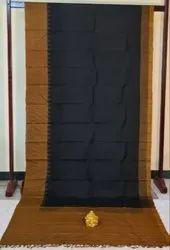 Midnight & Chocolate Color Korvai Silk Saree