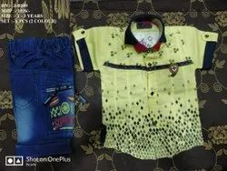 VERY STYLISH EASY NECK DESIGN SHIRT & PANT FOR BOYS