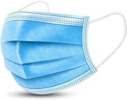 Blue 3 Ply Non Woven Face Mask