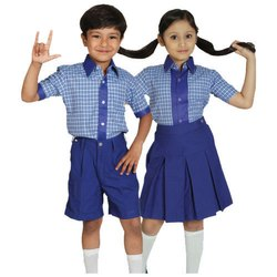 Summer Polyester School Uniform Shirt, Size: Small