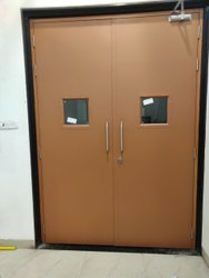 Galvanized Steel Powder Coated Metal Fire Door