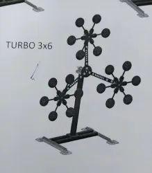 Texas Star - Modular Reactive Steel Target 3 x 6