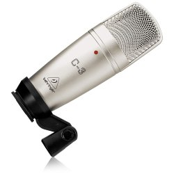 Wired Silver Behirnger Condenser Microphone, Model Name/Number: C-3