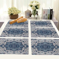 RA Traders Cotton Printed Table Mats