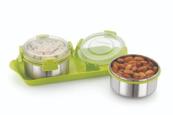 Magnus Trendy 2 Klip Lock Multipurpose Tray Set For Diwali Gift