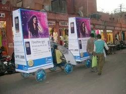 Three Month Outdoor advertising ad bike