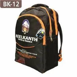 Printed Black School Backpack Bags
