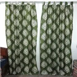 Cotton Hand Printed Curtain, For Home, Size: 7x4 Feet