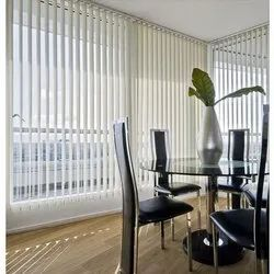 White PVC Office Vertical Blinds