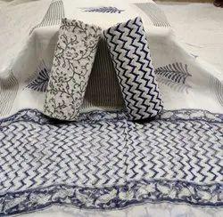 Chiffon A-Line Cotton suits, Dry clean