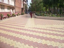 Paver Block Installation Work, For Outdoor