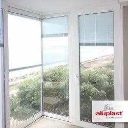 White Basement Aluplast UPVC Combination Window, Glass Thickness: 5mm - 6mm (dgu- 19mm - 27mm)