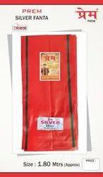 PREM Bhagwa Silver Fanta Cotton Gamcha, Size: Approx 1.80 M