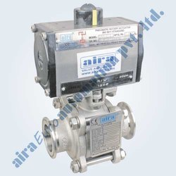 Pneumatic 3 Pc. Design Triclover Ends Floating Ball Valve