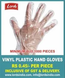 DISPOSABLE HAND GLOVES PLASTIC