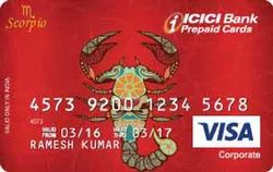 Plastic Red ICICI Bank Pre Paid Card With IFSC Code