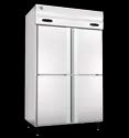 5 Star Silver Four Door Combi Model Stainless Steel Refrigerator, Side By Side