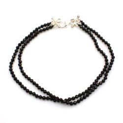 Gemstone Round Black Spinnel Stone beaded Bracelet