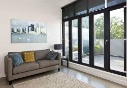 Encraft UPVC Invisible Folding Doors, 8 Mm, Size/Dimension: 7 X 8 Feet