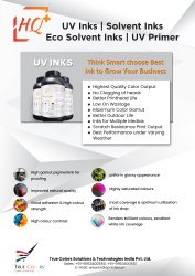 True Colors UV Ink For Almirah Printing Machine