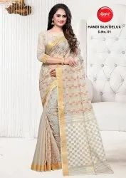 Pure Cotton Embroidery Saree