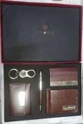 Cross Leatherette Set Of Calais Ballpen, Cardholder , Keychain ,Leather- Keypouch & Wallet