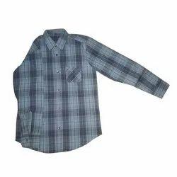 FST Men Collar Neck Check Shirt, Machine Wash, Hand Wash