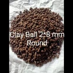Solid Brown Clay Ball 2 x 8 mm Round
