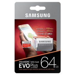 Samsung Evo 64gb Memory Card, For Mobile Phone, Size: MicroSD