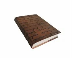Vintage Brown Calligraphy Designer Leather Journal