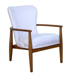 White Square Wooden Sofa Chair, For Hotel