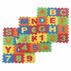 36 Pieces Mini Puzzle Foam Mat for Kids, Interlocking Learning Alphabet and Number Mat for Kids