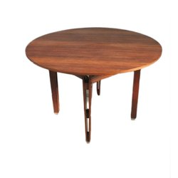 Brown Round Wooden Table