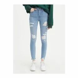 Skinny High Rise Ladies Stretchable Jeans