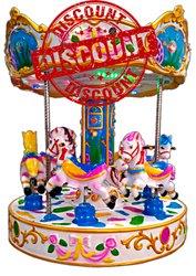 Horse Carousel Kiddie Amusement Ride Game - Multi