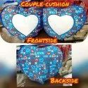 Heart Shape Sublimation Couple Cushion