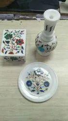Indoor Vertical Marble Inlay Handicrafts, For Decoration