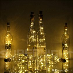 8L 2.4m 8cm Bottle Silver Wire Light