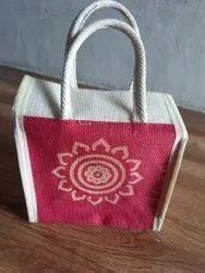 Handle Jute bag, Capacity: 4.5 Kgs, Size/Dimension: 7