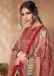 Bipson Presenting Sakhiya 1037-1040 Woollen Pashmina Digital Print Salwar Suits Wholesaler