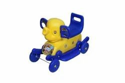 2-3 Years Blue and Yellow Elephant Dixs Riding Toys, Single Seated
