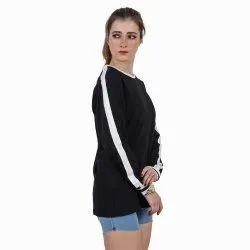 Round Beard India Women Full Sleeve Black T Shirt