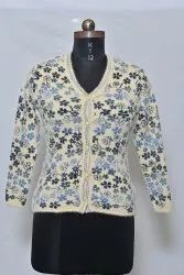 1002 Woolen Ladies Cardigan