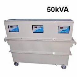 Single Phase Digital controller 50kVA Servo Voltage Stabilizer