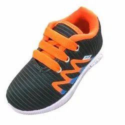 Kids Black And Orange Shoes