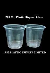 Plaastic 20 Inch 200 ML Aqua Plastic Glass
