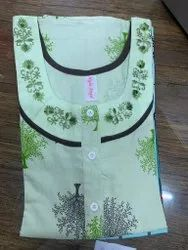 Ladies Embroidery Nighty