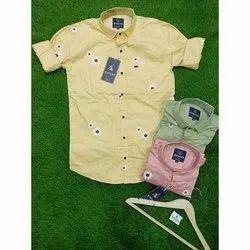 Mascot Printed Men Readymade Cotton Twill Shirt, Machine wash